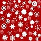 Modèle pour le papier d'emballage et rempli d'étoiles et de neige Photographie stock