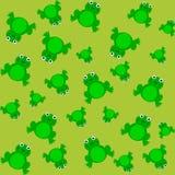 Modèle pour le papier d'emballage et rempli de grenouille Photos libres de droits