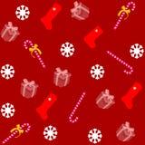 Modèle pour le papier d'emballage et rempli de sucrerie et de cadeaux Photographie stock