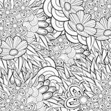 Modèle pour livre de coloriage Rétro conception ethnique Photo stock