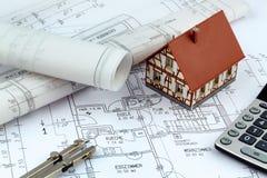 Modèle pour une maison Images stock
