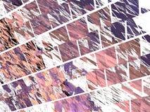 Modèle pourpre de fractale des tuiles obliques Photographie stock libre de droits