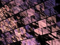 Modèle pourpre de fractale des tuiles obliques Photos libres de droits