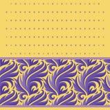 Modèle pourpre de vecteur d'usines de modèle de fête stylisé de vecteur sur un fond jaune avec des places illustration stock