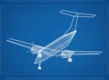 Modèle privé de Jet Architect illustration de vecteur
