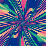 Modèle psychédélique coloré Images libres de droits