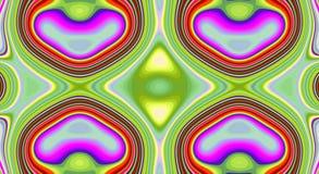 Modèle psychédélique d'abrégé sur symétrie et fond hypnotique, créatif lumineux illustration libre de droits