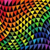 Modèle psychédélique de triangle Photos stock
