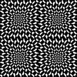 Modèle psychadelic de la géométrie abstraite moderne de vecteur fond fou géométrique sans couture noir et blanc Images libres de droits
