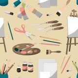 Modèle réglé de peintre illustration de vecteur