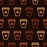 Modèle réglé de tasse de café Photographie stock libre de droits