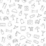 Modèle réglé par icônes d'hôtel illustration stock
