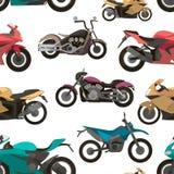 Modèle réglé par icônes de moto Photos stock