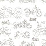 Modèle réglé par icônes de moto Image stock