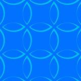 Modèle répétitif monochrome avec des formes de pétale/fleur/feuille illustration libre de droits