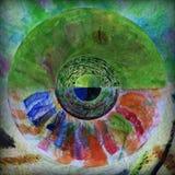 Modèle radial d'abrégé sur couleur Photo libre de droits