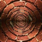 Modèle radial de mur de briques Photographie stock libre de droits