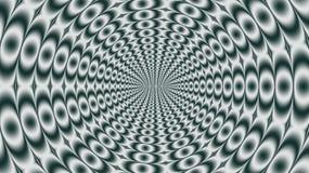 Modèle radial gris des cercles Photos libres de droits