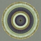 Modèle radial illustré Photos libres de droits