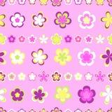 Modèle rayé abstrait sans couture de géométrique rose et brun mignon images stock