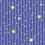Modèle rayé avec des étoiles Photo libre de droits