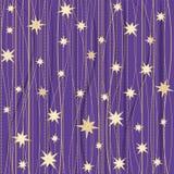 Modèle rayé avec des étoiles Photos libres de droits