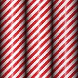 Modèle rayé diagonal géométrique abstrait avec les rayures rouges et blanches Photos stock