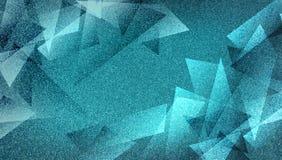 Modèle rayé et blocs ombragés par fond bleu abstrait dans les lignes diagonales avec la texture bleue de cru images stock