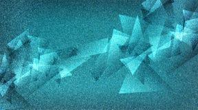 Modèle rayé et blocs ombragés par fond bleu abstrait dans les lignes diagonales avec la texture bleue de cru photographie stock