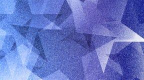 Modèle rayé et blocs ombragés par fond bleu abstrait dans les lignes diagonales avec la texture bleue de cru photos stock