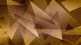 Modèle rayé et blocs ombragés par fond brun abstrait dans les lignes diagonales avec la texture brune bleue de cru photos stock