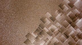 Modèle rayé et blocs ombragés par fond brun abstrait dans les lignes diagonales avec la texture de brun de cru photographie stock libre de droits