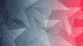 Modèle rayé et blocs ombragés par fond gris et rouge abstrait dans les lignes diagonales avec la texture grise de cru photos libres de droits