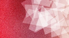 Modèle rayé et blocs ombragés par fond rouge et blanc abstrait dans les lignes diagonales avec la texture rouge de cru et blanche photographie stock libre de droits