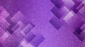 Modèle rayé et blocs ombragés par fond violet abstrait dans les lignes diagonales avec la texture violette de cru photo libre de droits