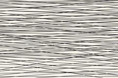 Modèle rayé horizontal abstrait noir et blanc Vecteur Photographie stock