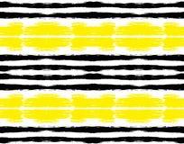 Modèle rayé jaune noir peint Images libres de droits