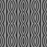 Modèle rayé monochrome sans couture de conception Image libre de droits