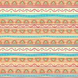 Modèle rayé multicolore tribal Image libre de droits