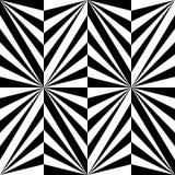 Modèle rayé noir et blanc polygonal sans couture Fond abstrait géométrique Approprié au textile, au tissu et à l'emballage Images stock