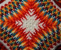 Modèle repéré sur le coussin tricoté Image libre de droits