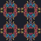 Modèle repited coloré dans le montant de cru illustration libre de droits