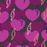 Modèle romantique avec les coeurs et la foudre Photographie stock
