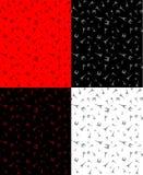 Modèle romantique français de tour d'eifel dans 4 couleurs images libres de droits