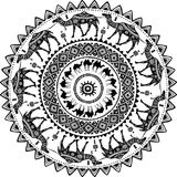 Modèle rond avec les chameaux décorés Photo libre de droits