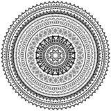 Modèle rond d'ornement dans le style ethnique tribal Images stock