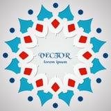 Modèle rond d'ornement Logo Template géométrique Élément décoratif de mandala coupé du papier Photographie stock libre de droits