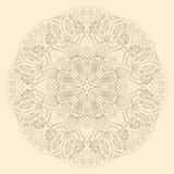 Modèle rond ornemental de dentelle Images stock