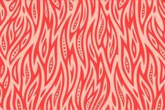 Modèle rose avec le feu illustration stock