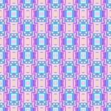 Modèle rose bleu sans couture géométrique de rectangle Photo stock